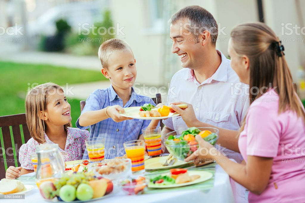 Family lunch royalty-free stock photo