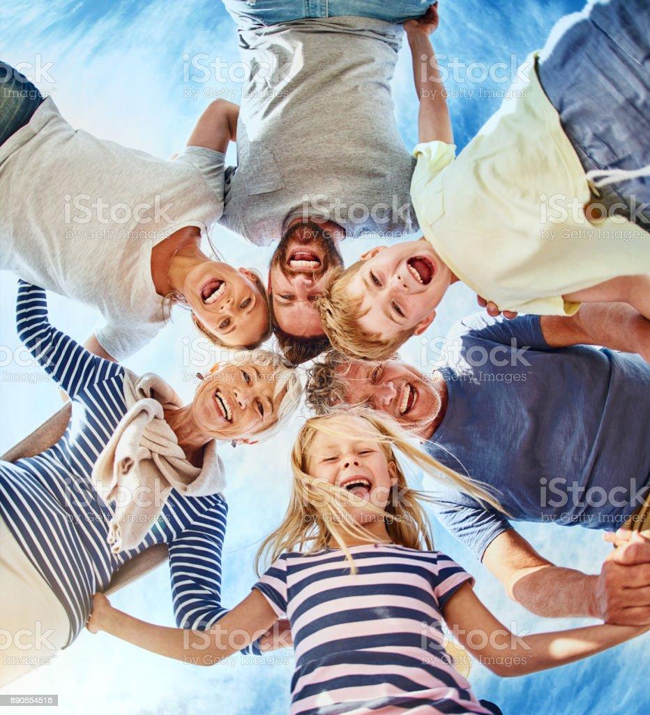 Familie regiert die Welt Runde - Lizenzfrei Alt Stock-Foto