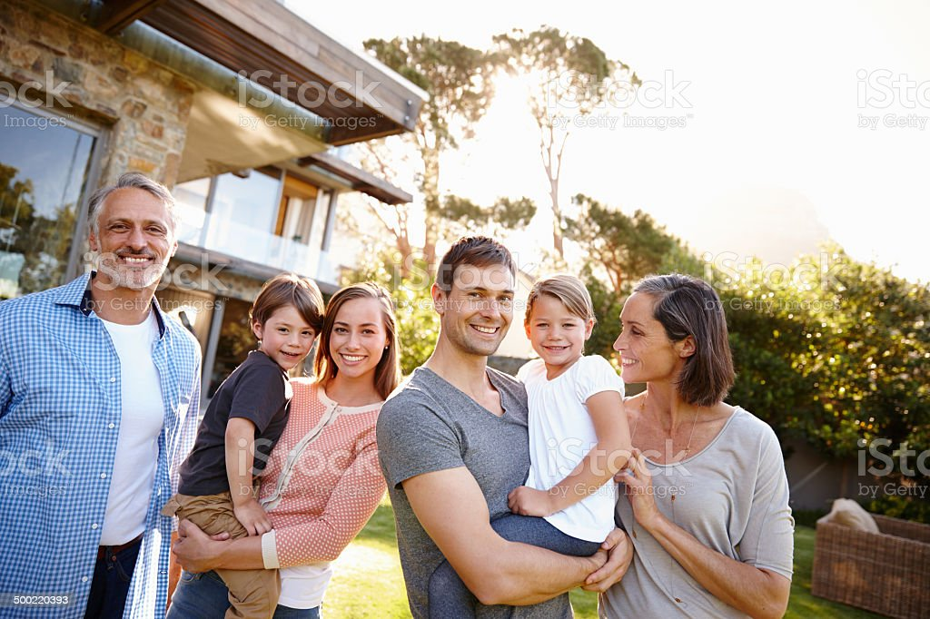Family makes this house a home royalty-free stock photo