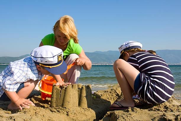 Familie der sandcastle – Foto