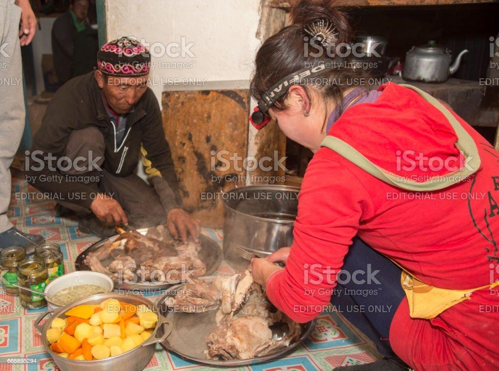 Family Meal Prep stock photo