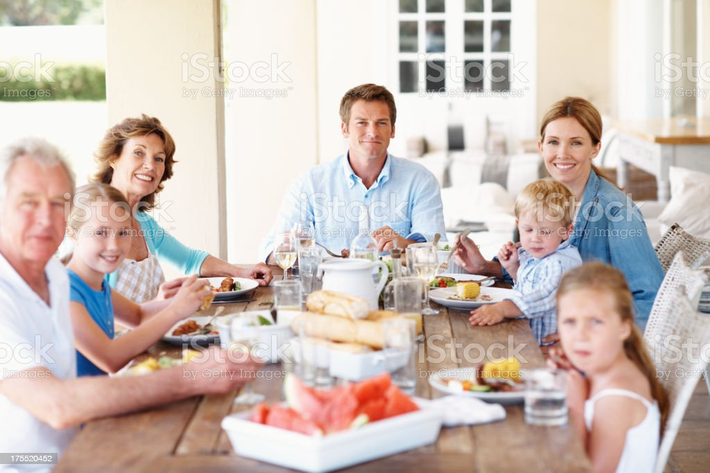 Family mealtimes are so important royalty-free stock photo