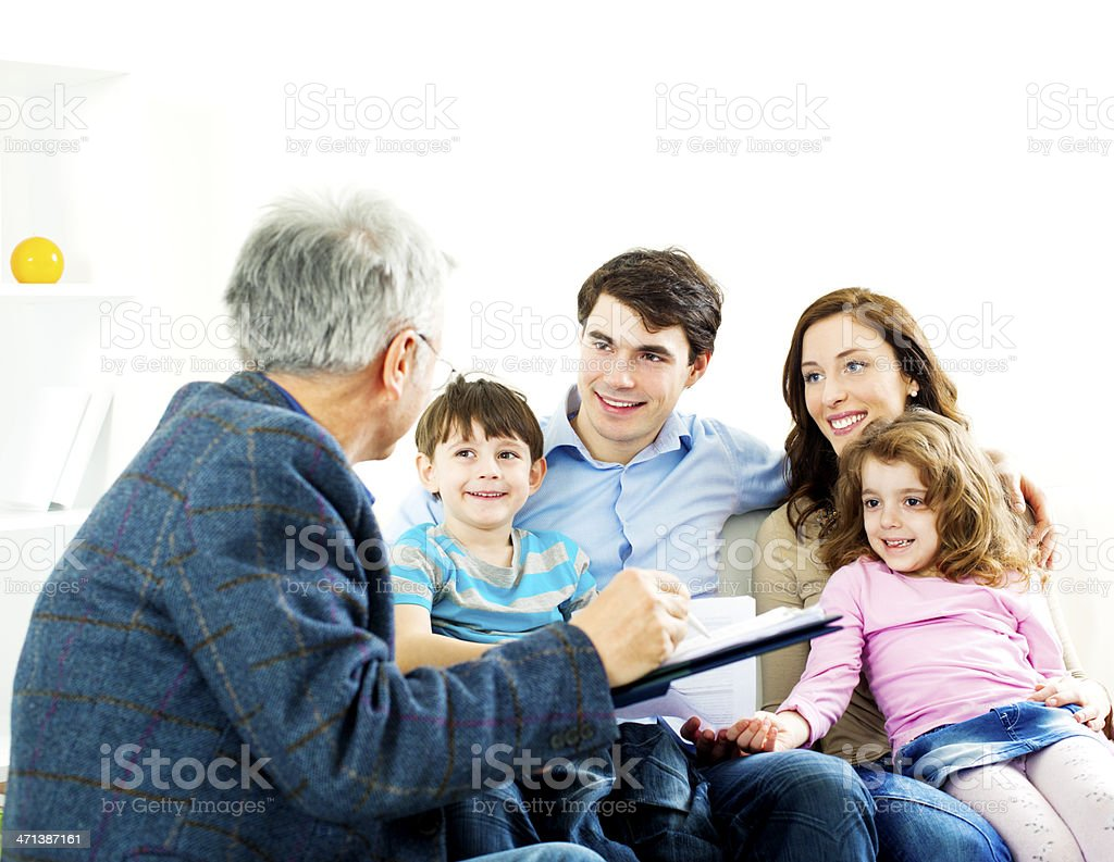 Family Meeting With Financial Advisor royalty-free stock photo
