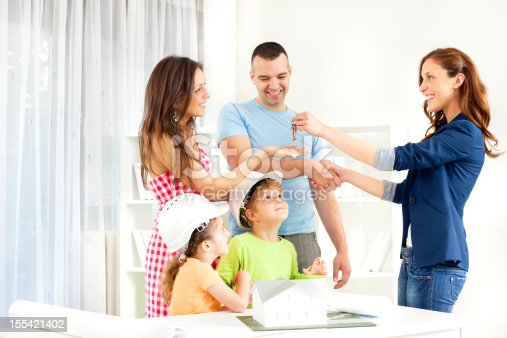istock Family Meeting With Real Estate Agent. 155421402