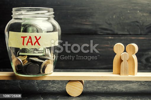 istock Family, money and the words