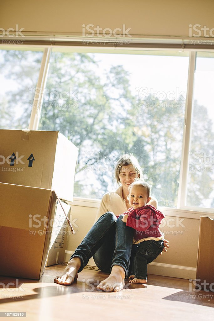 Family Move royalty-free stock photo