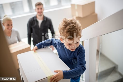 istock Family moving into new building 622046832
