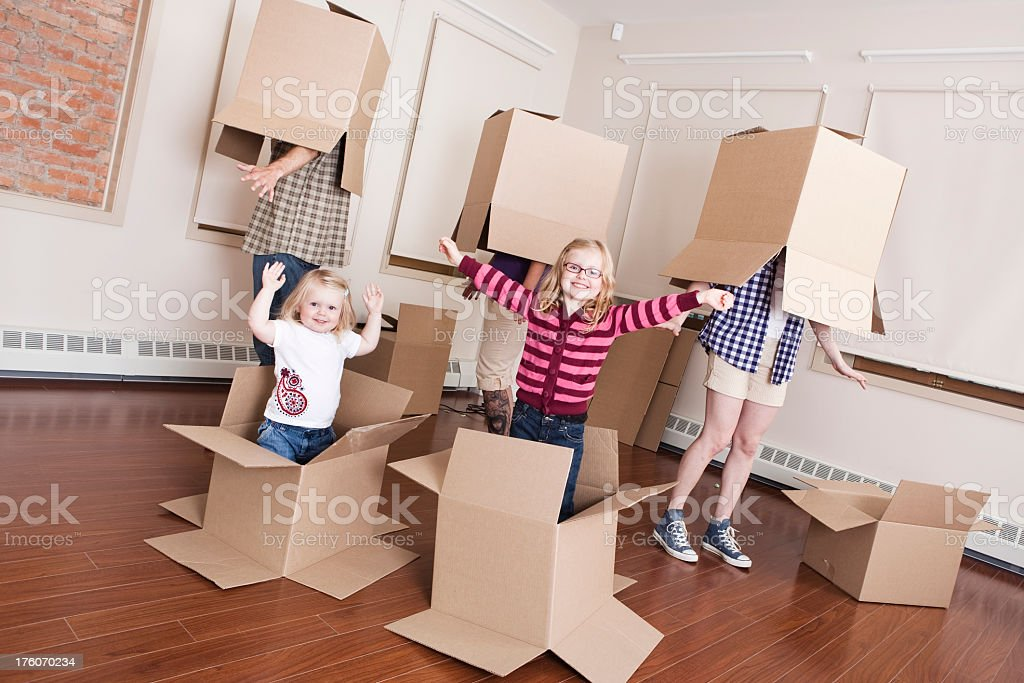 Family Moving Time royalty-free stock photo