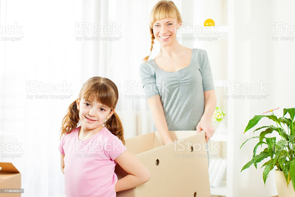 Family Moving To New Home. royalty-free stock photo