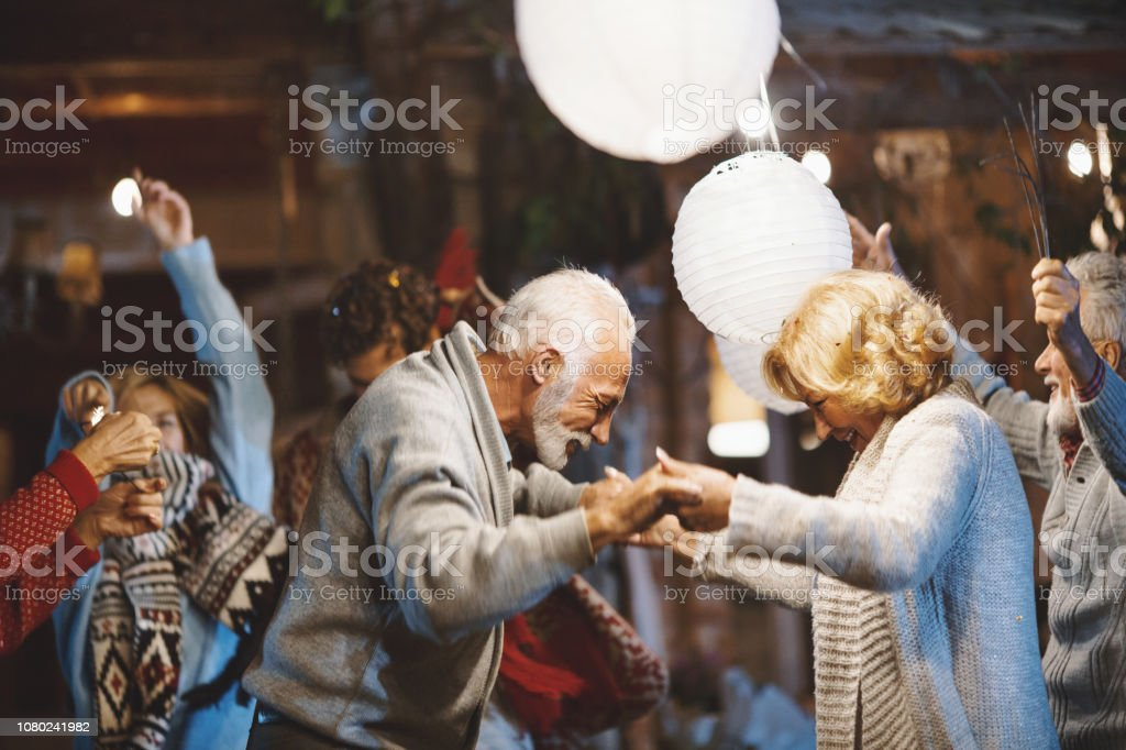 Family New Year's Eve Party. royalty-free stock photo