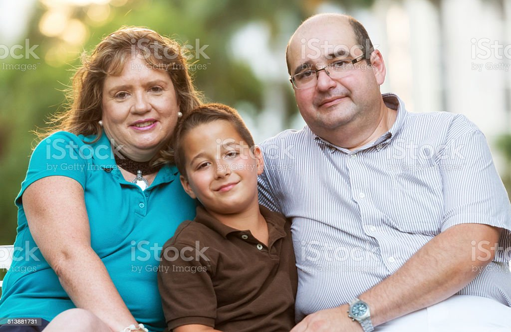 Family of 3 stock photo