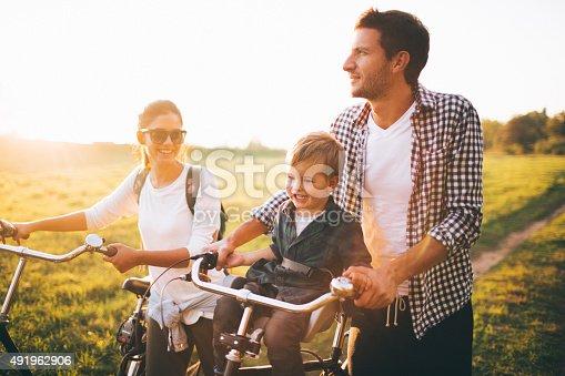 istock Family of bike lovers 491962906