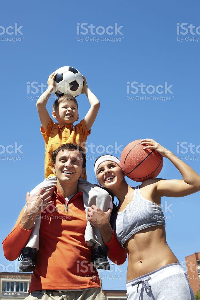 Family of champions - Lizenzfrei Aktivitäten und Sport Stock-Foto
