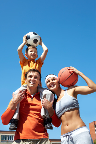 Family Of Champions Stockfoto und mehr Bilder von Aktivitäten und Sport