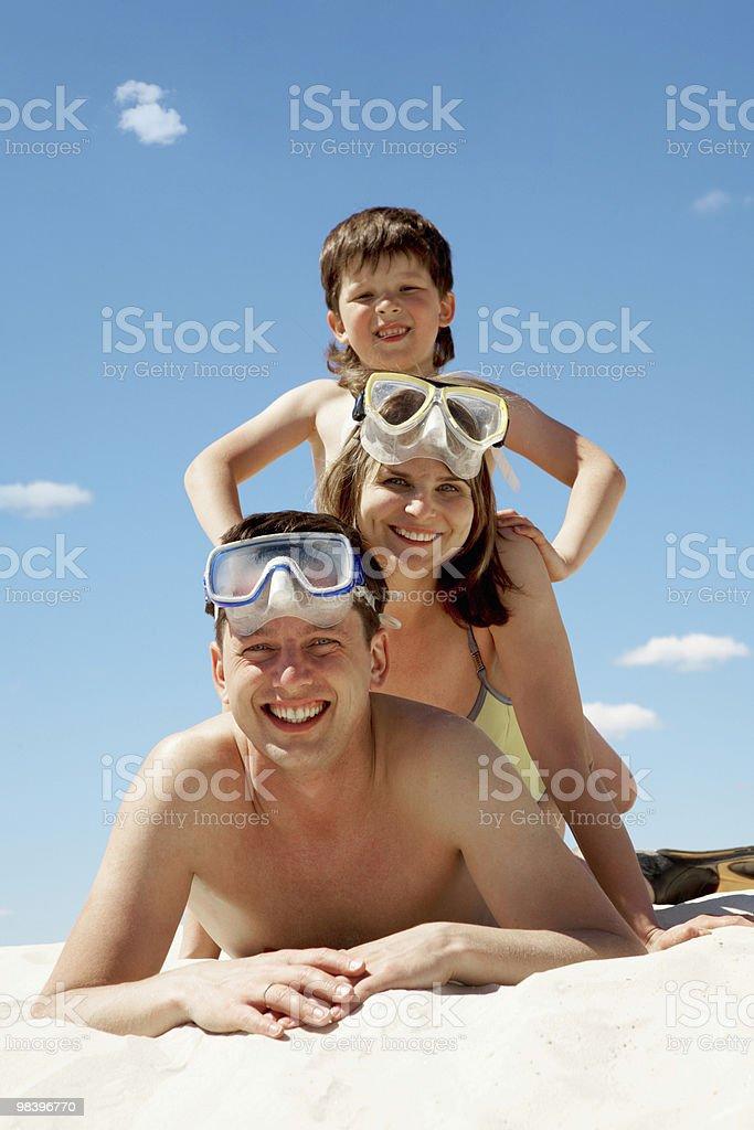 가족 다이버 royalty-free 스톡 사진