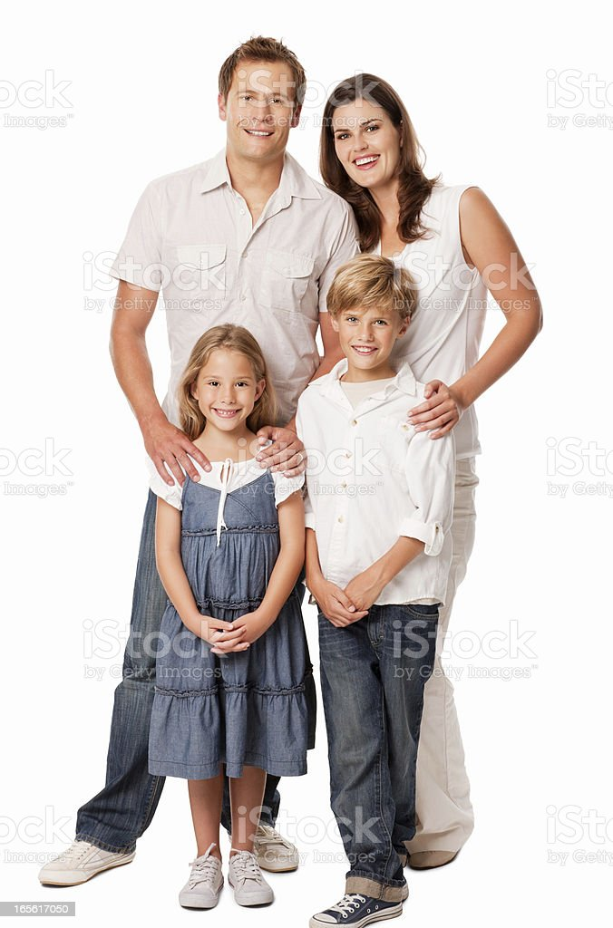 Family Of Four - Isolated stock photo