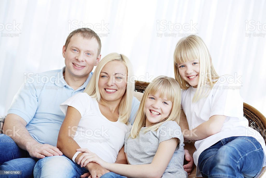 Family of four royalty-free stock photo
