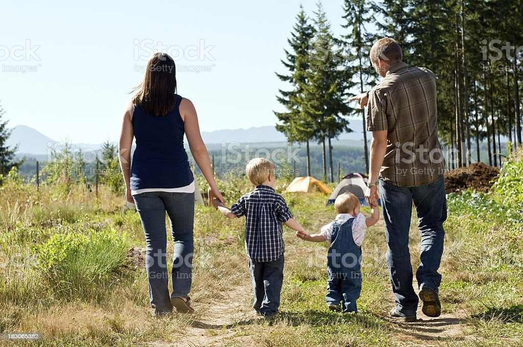 Family of four royalty-free stock photo