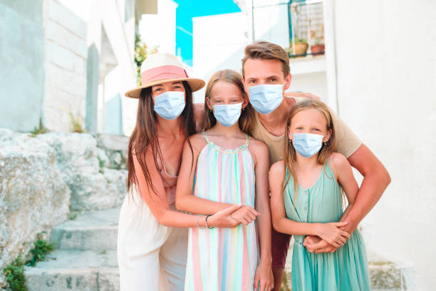 Familie von Eltern und Kindern Urlaub in Europaurlaub – Foto