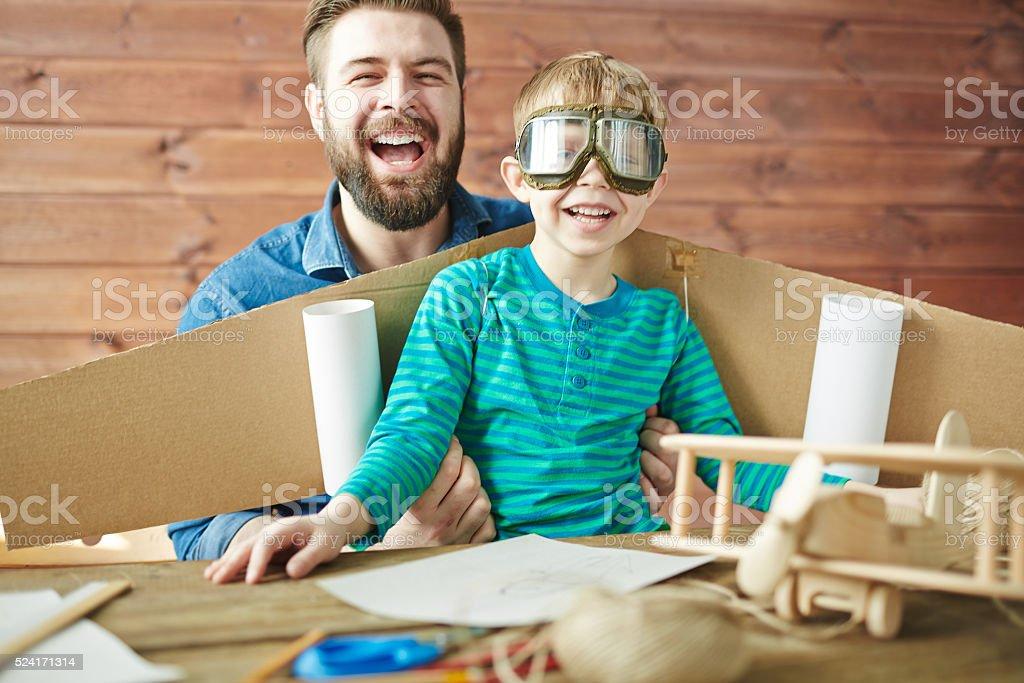 Family of pilots royalty-free stock photo