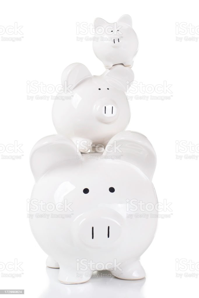 Family of Savings stock photo