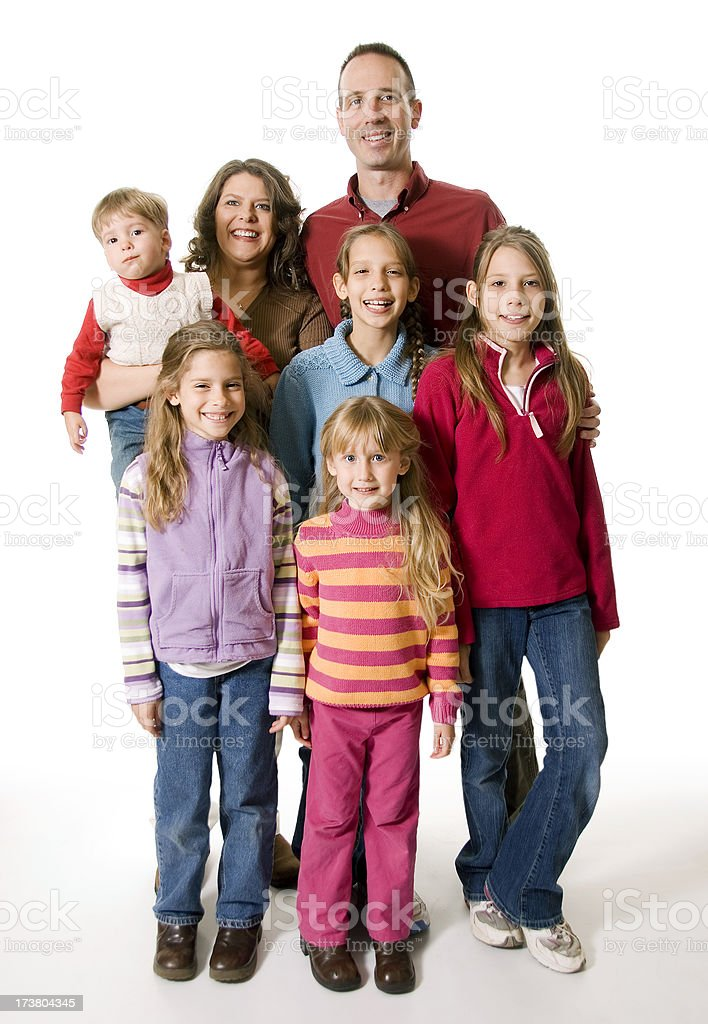 Family of Seven royalty-free stock photo