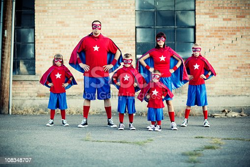 516318379istockphoto Family of Superheroes 108348707