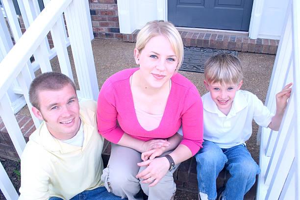 Family of Three - 1 stock photo