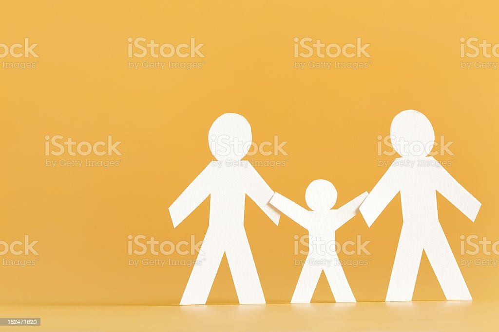Family of three concept royalty-free stock photo