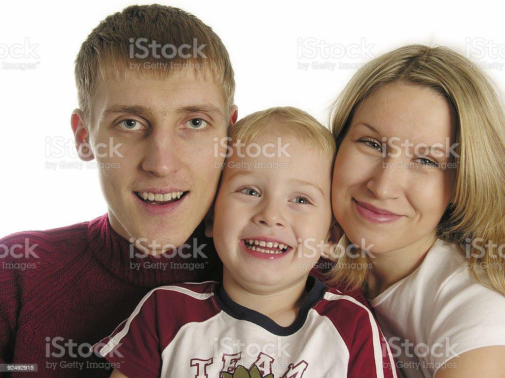 family of three isolated royalty-free stock photo
