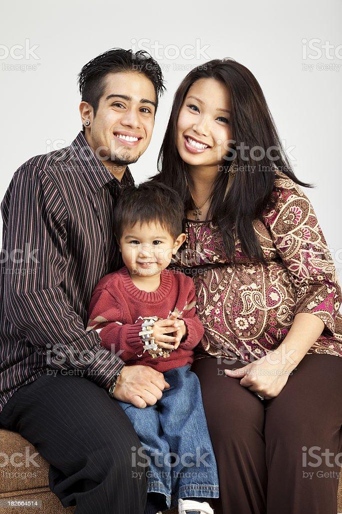 Family of Three Portrait stock photo