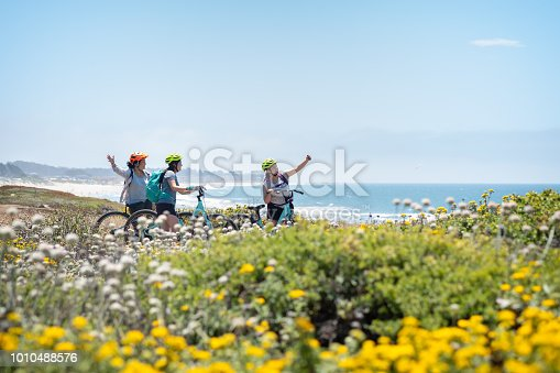 istock Family of Women Cyclists Posing for Selfie on Wildflower Bluff 1010488576