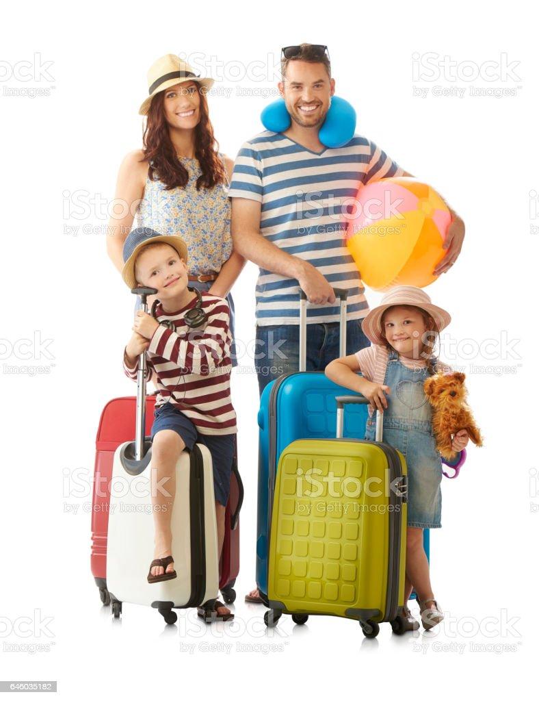família em férias de verão - foto de acervo