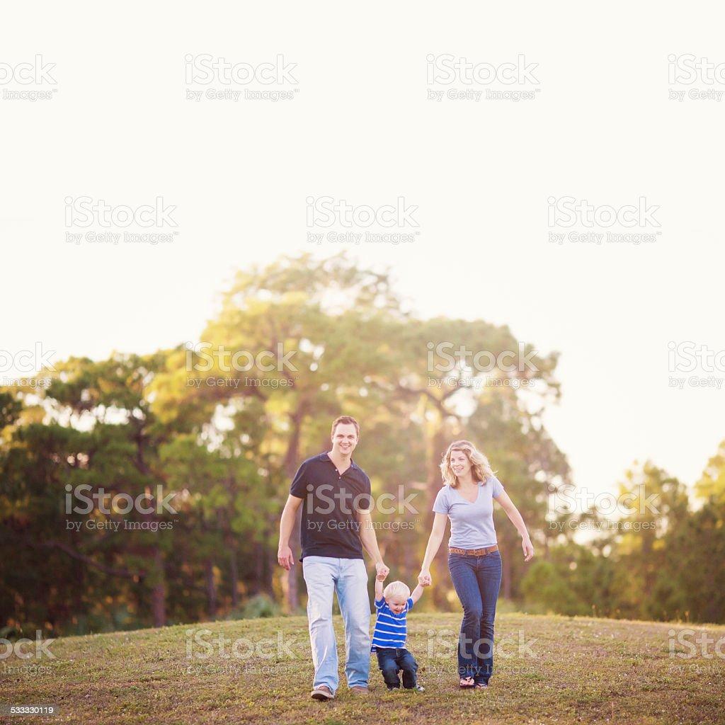 Family on a park stock photo