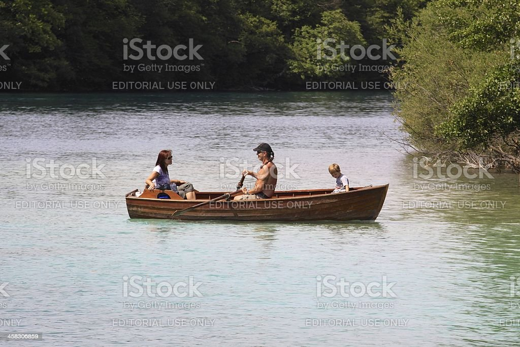 Family on a Rowboat royalty-free stock photo