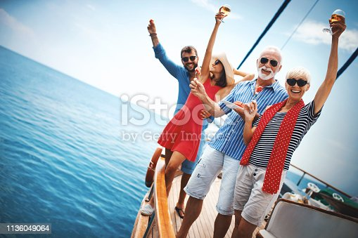 istock Family on a sailing cruise. 1136049064
