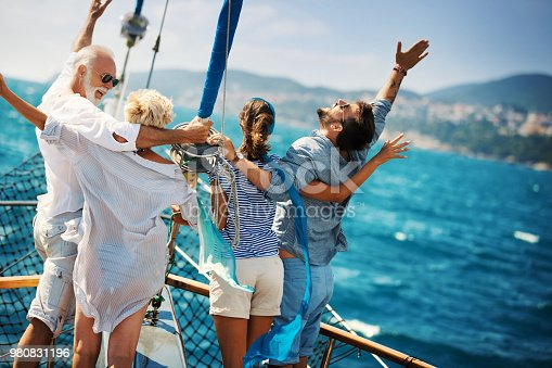 istock Family on a sailing cruise. 980831196