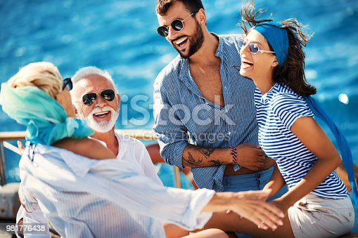 istock Family on a sailing cruise. 981776438
