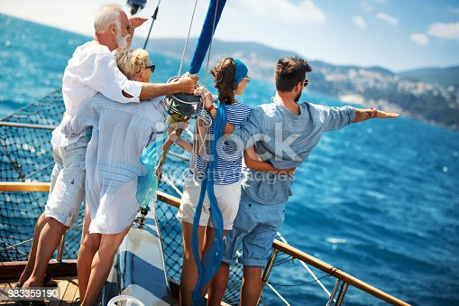 istock Family on a sailing cruise. 983359190