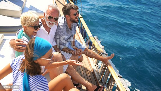 istock Family on a sailing cruise. 985600484