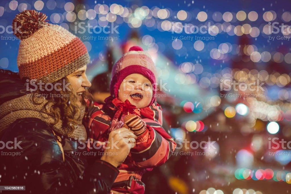 Familie auf Weihnachts-shopping – Foto