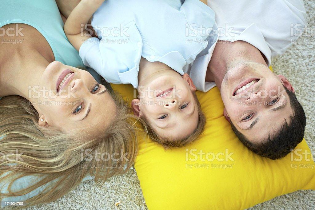 Family on floor royalty-free stock photo