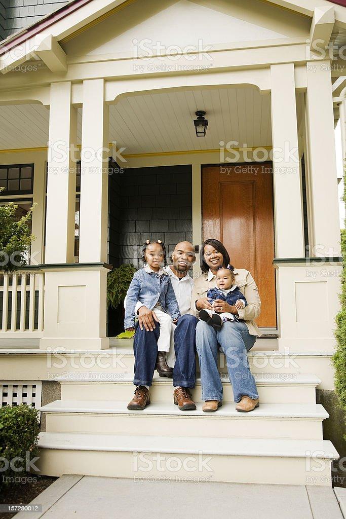 Family on Porch royalty-free stock photo