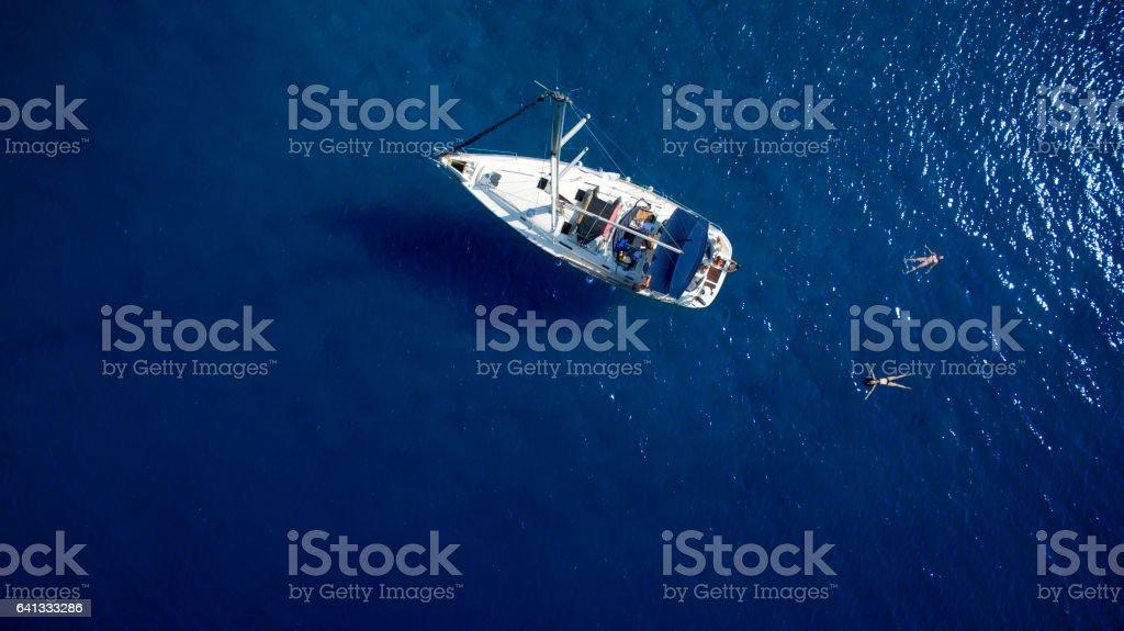 Family on sailing стоковое фото