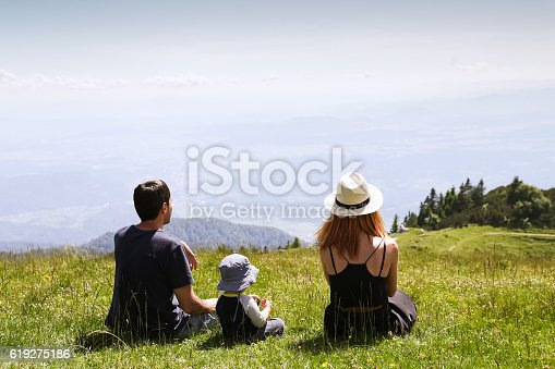 istock Family on the Nature Background. 619275186