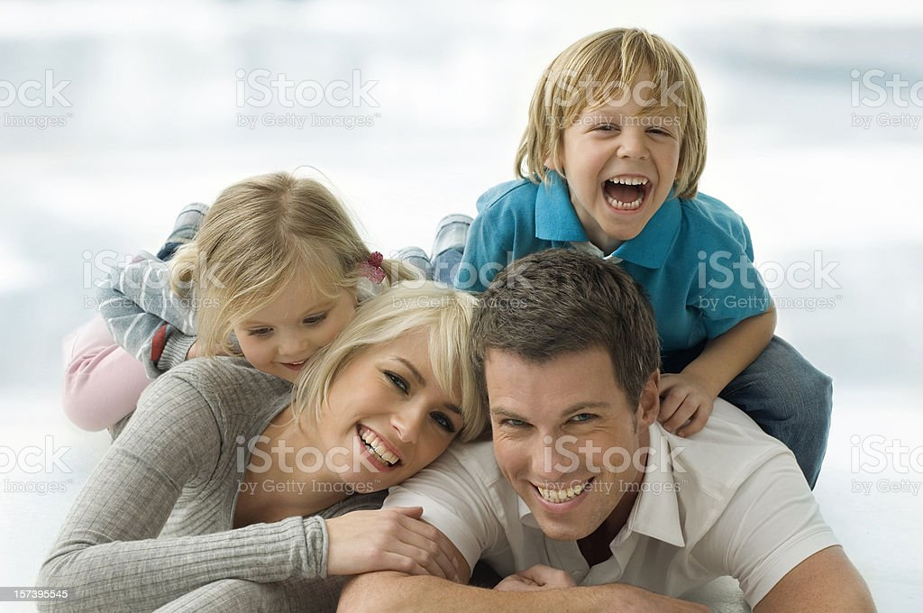 Family on thr floor  20-29 Years Stock Photo