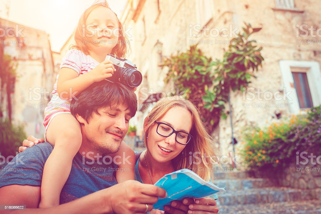 Family on vacations royalty-free stock photo