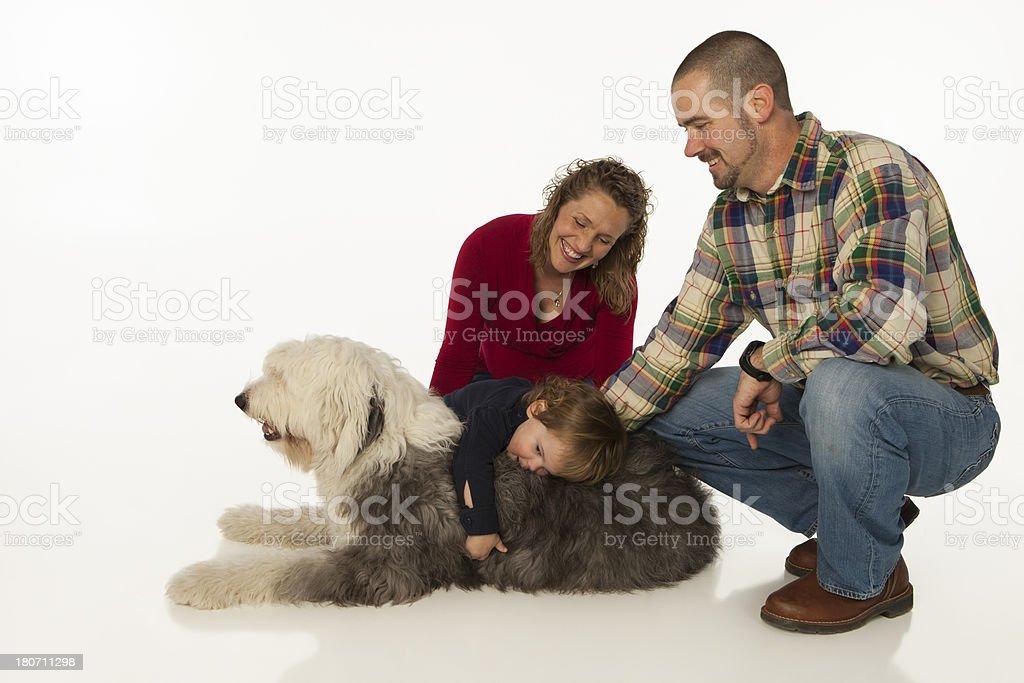 Family on White Background. royalty-free stock photo