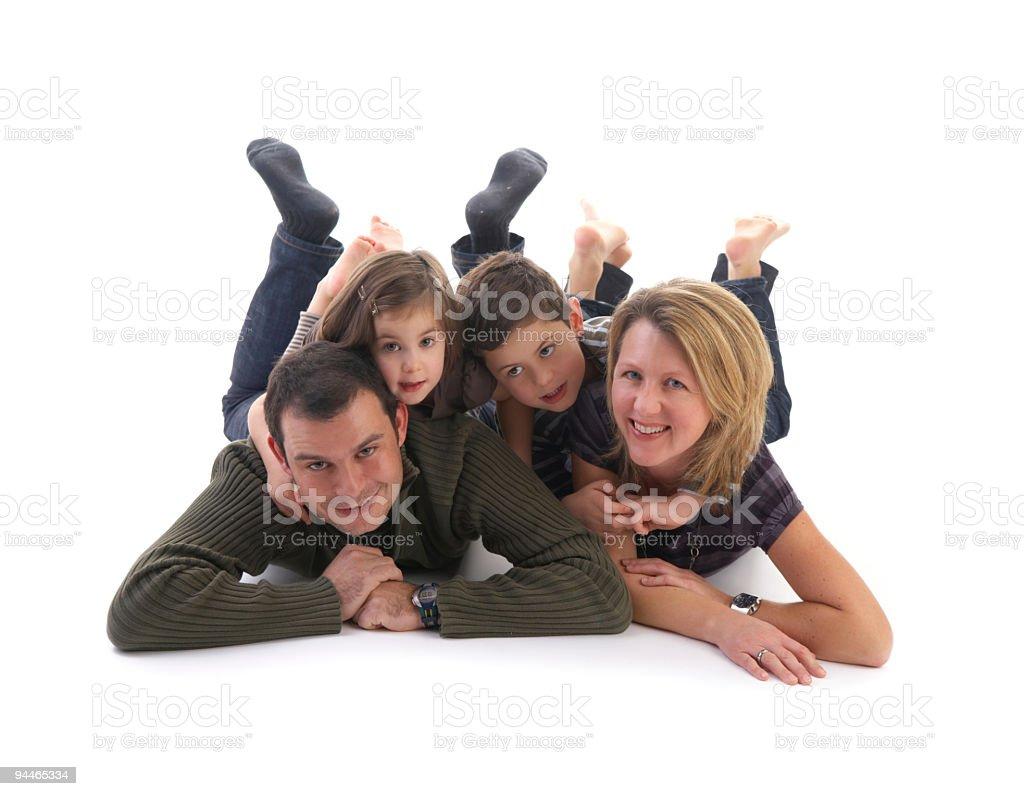 family on white ground royalty-free stock photo