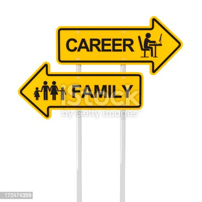 182362845 istock photo Family or career 172474359